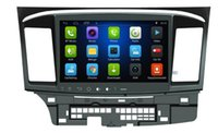 4-Core Android 6.0 10.1inch Car Dvd Gps Navi Audio para Mitsubishi Lancer EX 10 GaLant Fortis Ispira 2007-2015 volante