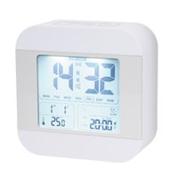 Wholesale Travelling Digital Clock - Talking Alarm Clock with 3 alarms, Snooze, Smart Light, Wake You Up Softly, Easy for Kids, Bedroom, Travel