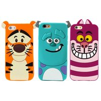 black tigger - 3D Sulley Tigger Dog Monster University Cartoon Animal Silicone Case for iPhone Plus Samsung Galaxy S7 S8 plus Note4