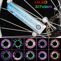 Wholesale 16 Hot Wheels Bike - Hot Selling Bike Lights 16 Colorful LEDs Cycling Bike Wheel Signal Tire Spoke Light 30 Changes Bicycle Accessories Free H8084UV