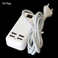 Wholesale ipad mini dock adapter online – 20pcs Ports USB Travel Charger V A Wall Charger Desktop Charger Adapter for iphone6 iPad Air Mini Mini2 Samsung LG