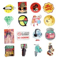 Wholesale Doodle Case - 50 Pcs Mixed Single Sticker Waterproof Home Decor Doodle Laptop Motorcycle Bike Travel Case Decal Toy Accessories Funny Sticker CDE_00F
