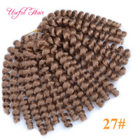 Wholesale Curling Wand For Hair - Free SHIPPING 8inch 2X Jumpy wand curl braid bouncy twist Jamaica synthetic braiding hair extensions crochet braids hair for black women