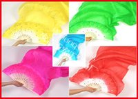 Wholesale belly dance costumes wholesale - 10pcs lot free shipping Wholesale - free shipping SILK Folk Art Chinese HandeMade Belly Dance Fans costumes fan