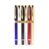 Wholesale Calligraphy Pen Gold - Wholesale-Hero 7022 All 6 colors Business office Smooth Medium Nib Fountain Pen New calligraphy pen