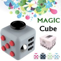 Wholesale Package Relief - Fashion Magic Fidget Cube Anti-anxiety Decompression Toy Adults Stress Relief Kids Toy Gift 11 Colors With Retail Package Free Shipping