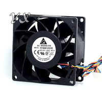 Wholesale pwm fan speed control resale online - Hot sell cm V A FFB0812EHE dual ball bearing PWM fan speed control for delta