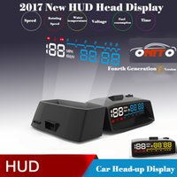 Wholesale 2017 new HOT F OBD2 II EUOBD car HUD Head Up Display HUD Digital type for s mat fortwo forfour hud Overspeed Warning Windshield Projector