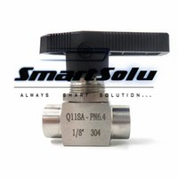"""Wholesale Stainless Steel Ball Valves - 304 Stainless Steel Ball Valve 1 8"""" BSP Female Q11SA-64 Female Screw Ball Valve for pnenumatic line and measure line"""
