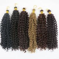 düz dalgalar saç toptan satış-Kanekalon sentetik saç paketleri su dalgası 14inch 100g İpeksi Düzgün sentetik örgülü saç eklentileri Kolay DIY Stil