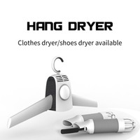 Wholesale Cloth Hanger Portable - Hot Smart 110V 220V 2 in 1 Portable Dry Hanger for Clothes Shoes Traveling Fast Drying Cloth Suit Hanger Dryer Cold Hot Wind Switch