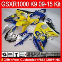 Wholesale Corona 12 - 8Gifts For SUZUKI Blue CORONA GSX R1000 GSXR1000 09 10 11 12 13 14 15 38NO16 K9 GSXR-1000 GSXR 1000 2009 2010 2011 2012 2013 14 2015 Fairing