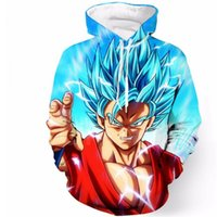 Wholesale 3d Animal Sweatshirts - Wholesale- 2017 Newest Anime Dragon Ball Z Super Saiyan Hooded Sweatshirts Goku Vegeta Broli Majin Buu 3D Harajuku Hoodies Pullovers