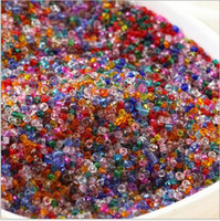 Wholesale Glass Crafts Wholesale - New Free Shipping 500pcs Loose 2 3 4mm Czech Glass Seed Spacer beads many colors For Jewelry Making Craft DIY