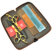 kit de peine profesional al por mayor-6.0Inch Meisha JP440C Plum Blossom Handle Tijeras de Peluquería Profesional Conjunto Straight Thinning Scissors con Bag + Comb, HA0340