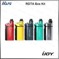 ijoy kit de mod rdta ilimitado al por mayor-Kit de caja RDTA ilimitado iJoy 100% original Kit de caja RDTA 200W 12.8ml RDTA con actualización y cubierta de construcción intercambiable IMC incorporada