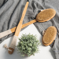 Wholesale Wooden Body Massage - Aimjerry Bathroom Natural Bristle Cleaning Removable Long Handle Wooden Maasage Health Care Bath Body Brush For Bath