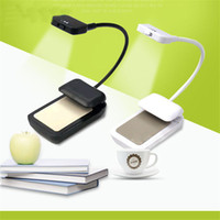 Wholesale clip flexible desk lamp - Newest Kindle 3 LED Light Clip-On Ebook Reading Lamp Booklight Book Reader Mini Flexible Bright Desk 918
