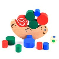 Vente en gros - New Kids Baby Early Training Educational Snail Balance Stacking Game Jouet en bois