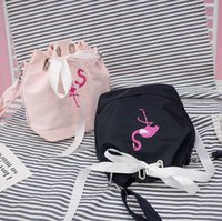 Flamingo Drawstring Bucket Sacos Bolsa de ombro Crossbody Tote Bolsa Bolsa Messenger Bolsa de drawstring Mini Bucket Bag LJJK779