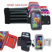Wholesale S3 Gym Strap - Newnest Sport Arm Band Case GYM Armband colors Pouch Cover Strap Soft Belt Jogging Running Bag for Samsung Galaxy S5 i9600 S4 S3 i9500 i9300