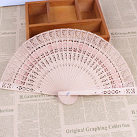 Wholesale Cheap Folding Fans - DHL Bridal Wedding Fans Chinese Wooden Fan Bridal Accessories Handmade 8'' Fancy Cheap Wedding Favors Gifts for Guests Ladies Hand Fans