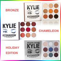 Wholesale Eyeshadow Palette Kit - Kylie Cosmetics Bronze BURGUNDY Holiday edition Eyeshadow KyShadow Palette kit kylie eye shadow waterproof no original
