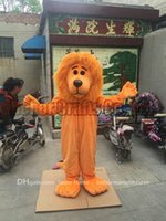 Mascot Costumes XL Movie/Music Stars Orange lion mascot costume free shipping, cheap high quality carnival party Fancy plush walking Orange lion mascot adult size.