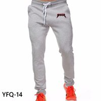 Wholesale Lace Pants Men - Wholesale- New Men'S Brand Casual Letters Yeezus Printed Lace Trousers Joggers Men'S Sweatpants Pants