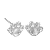Wholesale Cute Accessories For Women - 5 pairs lot Silver 925 Sterling Jewelry Cute Baby Dog Paw Silver Earrings Animal Stud Earrings for Women Wholesale Accessories