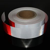 Wholesale Reflective Warning Tape - Red White Honeycomb reflective tape Trailer Reflector Caution Safety Warning sticker