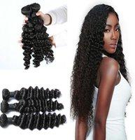 Wholesale Malaysian Hair Online - Brazilian Deep Wave Virgin Brazilian Hair Bundles 3pcs lot Factory Selling Cheap Hair Brazilian Hair Weave Online naturalhairfactory