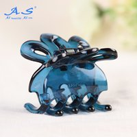 Wholesale Small Discount Wholesalers - Discounted indian style PC 40 mm blue small plain hair claw clips 12 PCS  1 bag