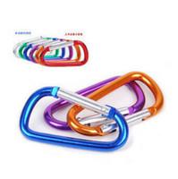 алюминиевые крючки d оптовых-Бутылка воды пряжка алюминиевого сплава металла из нержавеющей стали типа D пряжки крюк инструмент для кемпинга восхождение многоцветный выбрать 0 47cz I1