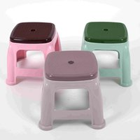 Wholesale Thicker child stool multifunction Plastic small Size bench durable personal Square Dining table stool anti skid stool for footwear bench