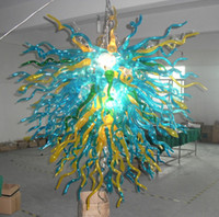 Excellent Spiral Crystal Chandelier Lighting Cheap Rustic Clear Blue Yellow Main soufflé Verre Moderne Chandelier Pendentifs