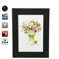 Wholesale Hide Painting - New Painting Photo Picture Black Frame Spy Hidden Mini DVR Camera Recorder Security Camcorder