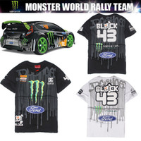 Wholesale Collared Racing Shirts - 2017 new spring and summer racing male short-sleeved T-shirt off-road motorcycle single printing