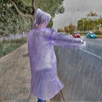 Wholesale Disposable Ponchos - Disposable raincoat PE Unisex Raincoats Poncho Rainwear Travel Drifting Rain Coat Rain Wear gifts for Water playground Touris DHL free HQ006