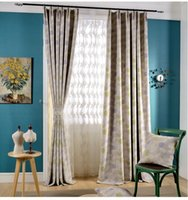 Wholesale Good Quality Curtains - High quality pastoral printing floral Window Blackout Curtain for Living Room Bedroom good blackout effect 2 colors wholesale fabric price