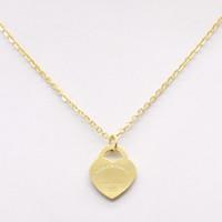 collares de las mujeres al por mayor-2017 Diseño de Lujo Marca Corazón Collar de Amor para Las Mujeres Accesorios de Acero Inoxidable Circón Corazón Amor Collar Para Las Mujeres Joyería