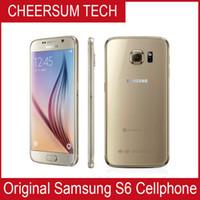 3gb ram phone оптовых-Оригинальный Samsung Галактика S6 G920P G920AКУПЛЕННЫЙ G920F 4G сети LTE мобильный телефон Octa ядро 3 ГБ оперативной памяти 32 ГБ ROM 16 мегапикселей 5.1-дюймовый Android 5.0