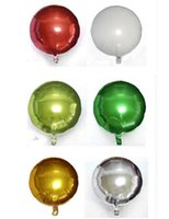 Wholesale Christmas Hot Air Balloon - Hot 18 inch Foil Balloon Party Inflatable Balls Silver Wedding Decoration Happy Birthday Inflatable Toys Air Balloons