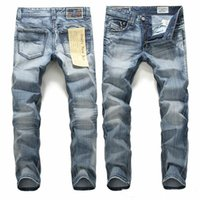 Wholesale Casual Trouser For Men - Mens fashion jeans light blue cotton jeans for man casual straight cowboy jeans trousers for man male wholesale