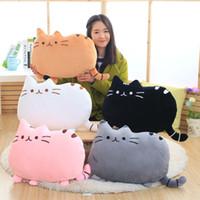 Wholesale Kawaii Cushion - Pusheen Cat Plush Stuffed Animal cushion case new 40*30cm 15.7*11.8 inches 8 colors toy catoon cats skin kids kawaii Pillow covers