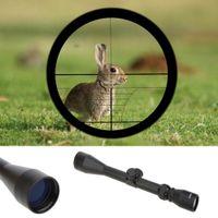 retículo del francotirador del alcance del rifle al por mayor-Visor de Riflescope ajustable 3-9x40 Alcance del rifle Óptica de visión al aire libre Sniper Deer Tactical Hunting Scopes + Rail MOUNTS