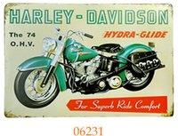 Wholesale Cross Garage - come in 20pcs lot Vintage Decor Home Bar Pub Garage Wall Poster 20161005#