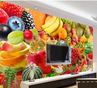 ingrosso foto dell'anguria-All'ingrosso-personalizzato 3d foto wallpaper Frutta anguria Banana Pomodoro pera parete murale foto wallpaper Decorazione della casa