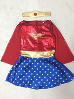 Wholesale Anime Girl Dress - Kids Halloween Costumes For Girls ,Wonder Woman Costume Dress ,Girl Anime Cosplay Clothing ,Disfraces Carnaval