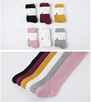 Wholesale Girls Tights Pantyhose - Baby Girls leggings baby tights solid baby stocking kids cotton toddler tights pants underpants pantyhose children's tights